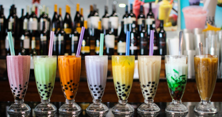 Photo of bubble tea drinks.